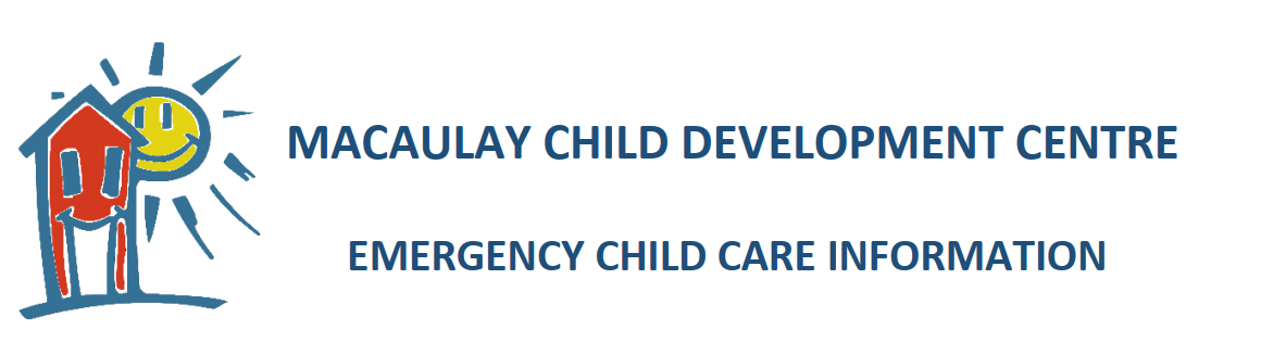 Emergency Child Care at Macaulay Extended (January 13, 2021)